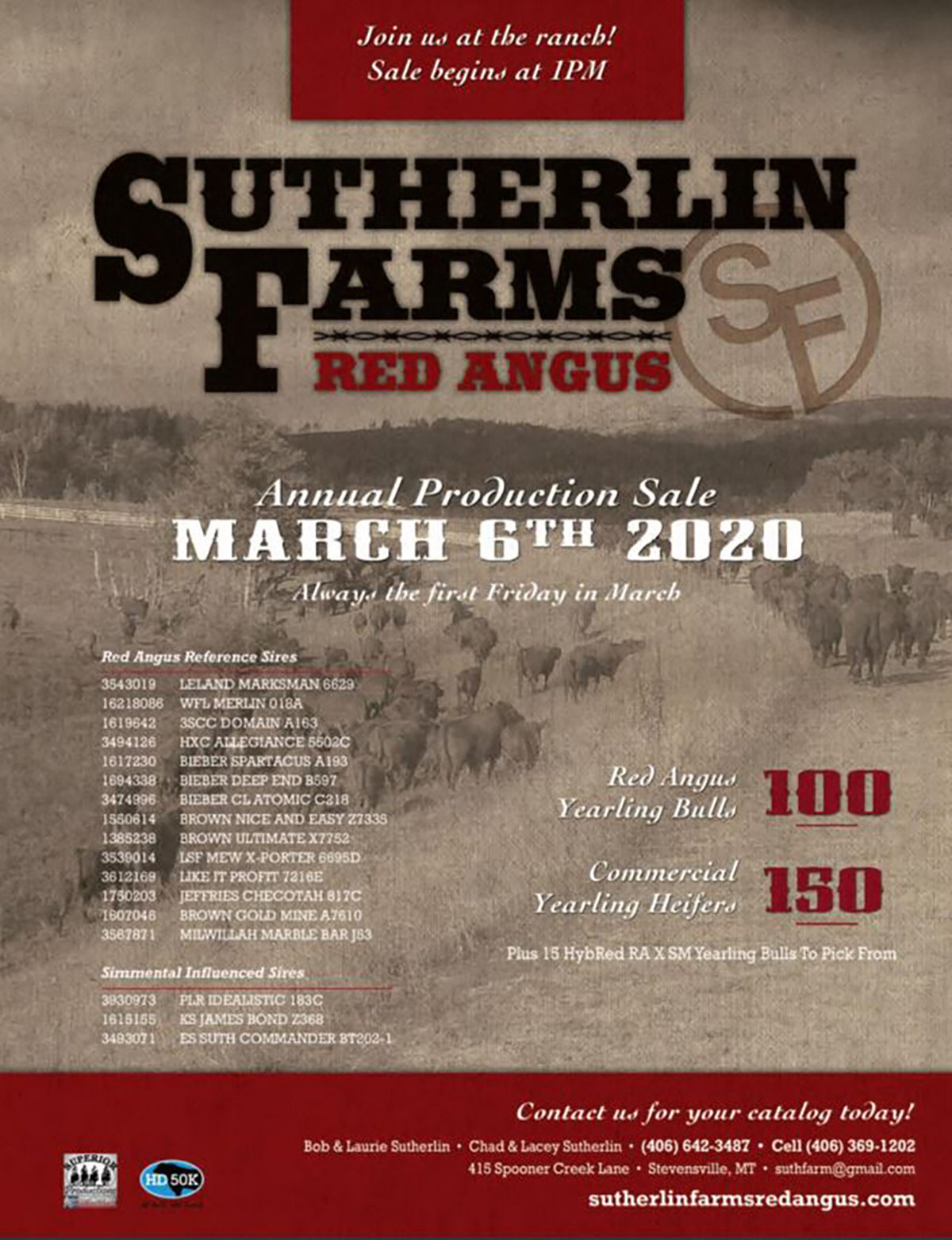 2020 Sutherlin Farms Red Angus Sale Cover